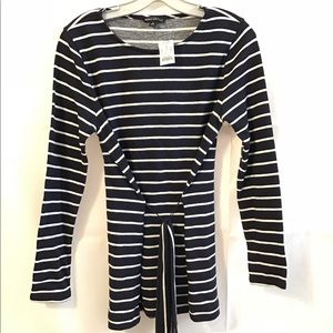 NWT J. Crew Striped Belted Top Sweater MAKE OFFER!